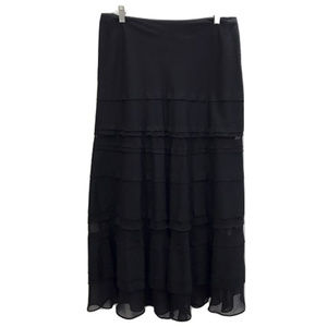 White House Black Market Black Maxi Skirt